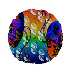 Abstract Mask Artwork Digital Art Standard 15  Premium Round Cushions