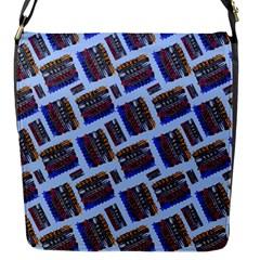 Abstract Pattern Seamless Artwork Flap Messenger Bag (s)