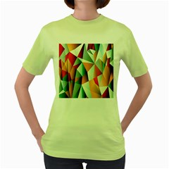Abstracts Colour Women s Green T Shirt by Nexatart