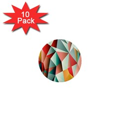 Abstracts Colour 1  Mini Buttons (10 Pack)
