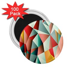 Abstracts Colour 2 25  Magnets (100 Pack)
