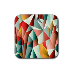 Abstracts Colour Rubber Coaster (square)  by Nexatart
