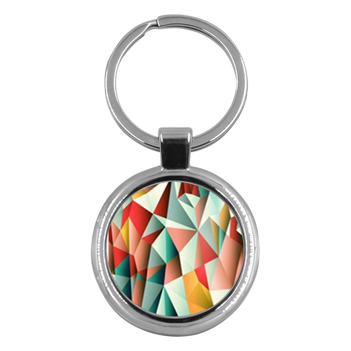 Abstracts Colour Key Chains (Round)