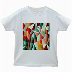 Abstracts Colour Kids White T Shirts by Nexatart
