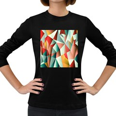 Abstracts Colour Women s Long Sleeve Dark T-Shirts