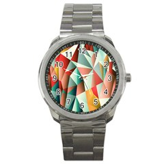Abstracts Colour Sport Metal Watch by Nexatart