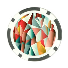 Abstracts Colour Poker Chip Card Guard