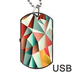 Abstracts Colour Dog Tag Usb Flash (two Sides) by Nexatart