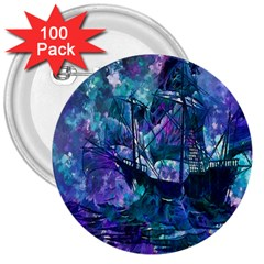 Abstract Ship Water Scape Ocean 3  Buttons (100 Pack)