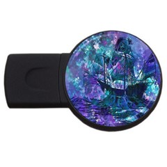 Abstract Ship Water Scape Ocean Usb Flash Drive Round (2 Gb)