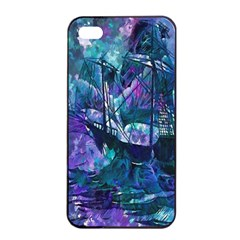 Abstract Ship Water Scape Ocean Apple Iphone 4/4s Seamless Case (black)