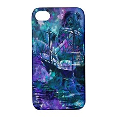 Abstract Ship Water Scape Ocean Apple Iphone 4/4s Hardshell Case With Stand