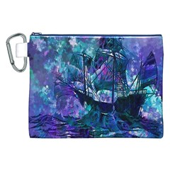 Abstract Ship Water Scape Ocean Canvas Cosmetic Bag (xxl) by Nexatart