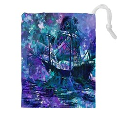 Abstract Ship Water Scape Ocean Drawstring Pouches (xxl) by Nexatart