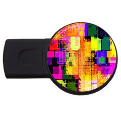 Abstract Squares Background Pattern Usb Flash Drive Round (2 Gb)
