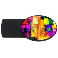 Abstract Squares Background Pattern Usb Flash Drive Oval (2 Gb) by Nexatart