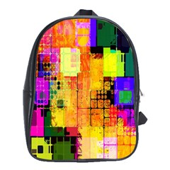 Abstract Squares Background Pattern School Bags (xl)  by Nexatart