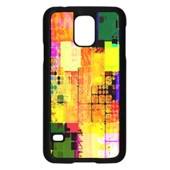 Abstract Squares Background Pattern Samsung Galaxy S5 Case (black)