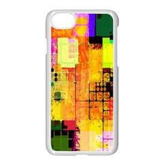 Abstract Squares Background Pattern Apple Iphone 7 Seamless Case (white) by Nexatart