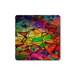 Abstract Squares Triangle Polygon Square Magnet by Nexatart