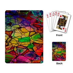 Abstract Squares Triangle Polygon Playing Card by Nexatart