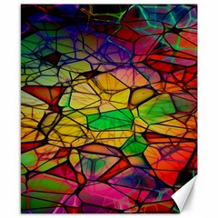 Abstract Squares Triangle Polygon Canvas 8  X 10  by Nexatart