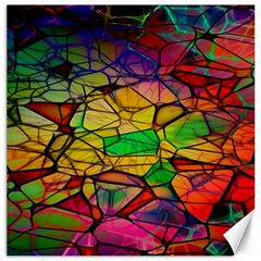 Abstract Squares Triangle Polygon Canvas 20  X 20   by Nexatart