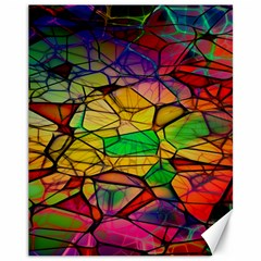Abstract Squares Triangle Polygon Canvas 11  X 14   by Nexatart