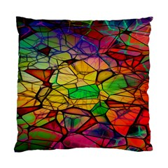 Abstract Squares Triangle Polygon Standard Cushion Case (two Sides) by Nexatart