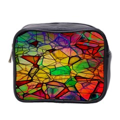 Abstract Squares Triangle Polygon Mini Toiletries Bag 2 Side by Nexatart