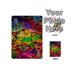 Abstract Squares Triangle Polygon Playing Cards 54 (mini)  by Nexatart