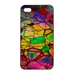 Abstract Squares Triangle Polygon Apple Iphone 4/4s Seamless Case (black) by Nexatart