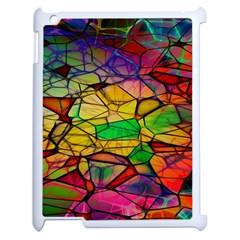Abstract Squares Triangle Polygon Apple Ipad 2 Case (white)