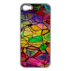 Abstract Squares Triangle Polygon Apple Iphone 5 Case (silver) by Nexatart