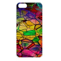 Abstract Squares Triangle Polygon Apple Iphone 5 Seamless Case (white) by Nexatart