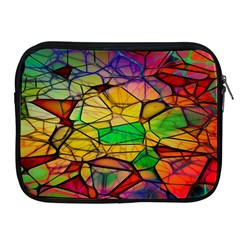 Abstract Squares Triangle Polygon Apple Ipad 2/3/4 Zipper Cases by Nexatart