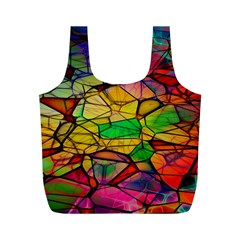 Abstract Squares Triangle Polygon Full Print Recycle Bags (m)