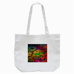 Abstract Squares Triangle Polygon Tote Bag (white) by Nexatart