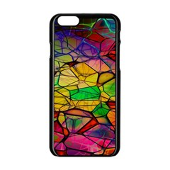 Abstract Squares Triangle Polygon Apple Iphone 6/6s Black Enamel Case by Nexatart