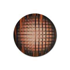 Abstract Texture Background Pattern Rubber Coaster (round)