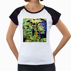 Abstract Trees Flowers Landscape Women s Cap Sleeve T by Nexatart