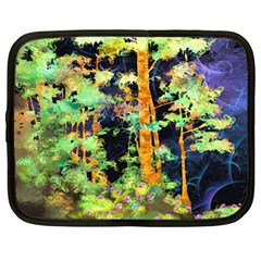 Abstract Trees Flowers Landscape Netbook Case (large)