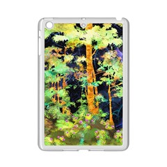 Abstract Trees Flowers Landscape Ipad Mini 2 Enamel Coated Cases