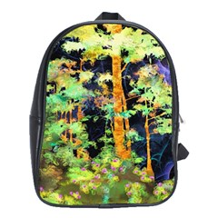 Abstract Trees Flowers Landscape School Bags (xl)