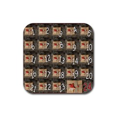 Advent Calendar Door Advent Pay Rubber Square Coaster (4 Pack)