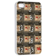 Advent Calendar Door Advent Pay Apple Iphone 4/4s Seamless Case (white) by Nexatart