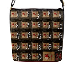 Advent Calendar Door Advent Pay Flap Messenger Bag (l)