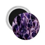 Agate Naturalpurple Stone 2.25  Magnets