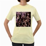 Agate Naturalpurple Stone Women s Yellow T-Shirt