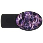 Agate Naturalpurple Stone USB Flash Drive Oval (2 GB)